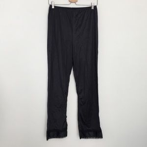 Vintage Adonna Long Black Petti Long Pants Slip